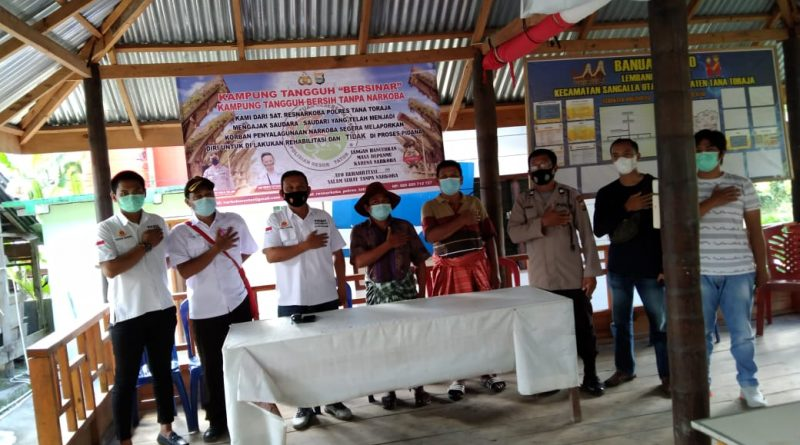 Sosialisasi Kampung Tangguh Bersinar, Kasat Narkoba Res Tator : Rehabilitasi Gratis Bagi Pengguna Narkotika