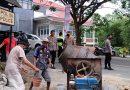 Kapolres Tana Toraja Memantau Pelaksanaan Pekerjaan Pembangunan jalan menuju Mako Polsek Makale