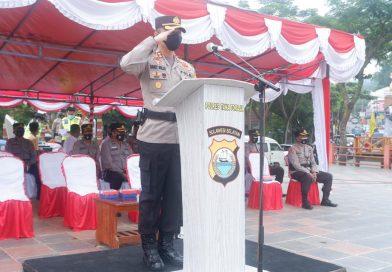 Laksanakan Ops Keselamatan 2021, Kapolres Tana Toraja Pimpin Apel Gelar Pasukan