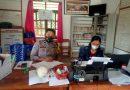 Bhabinkamtibmas kunjungan dan koordinasi mengenai warga pendatang yang masuk