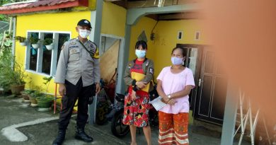 Bhabinkamtibmas Polsek Makale melaksankan Sambang di wilayah Binaan
