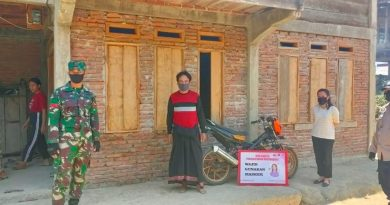 Bhabinkamtibmas Bersama Babinsa Himbau Warga Binaan Patuhi Prokes