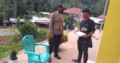 Bhabinkamtibmas melaksanakan Sambang di Wilayah Binaan